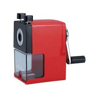 Caran D'Ache Bureau Taille-Crayon Manivelle Artiste Affûtage Machine Rouge