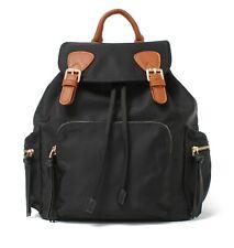 Small Black Nylon Fashion Lightweight Backpack Purse For Women Girls Waterproof