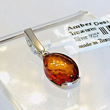 100% Natural Russian Baltic Amber Necklace Butterscotch Egg Yolk Polish Vintage