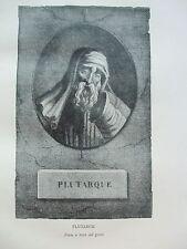 ANTIQUE PRINT C1910 PLUTARCH VINTAGE FAMOUS LITERATURE HISTORY ART PRINT