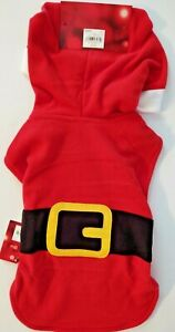 Dog Santa Suit Jammies For Your Families Microfleece Small