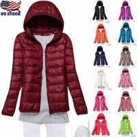 USA Womens Duck Goose Down Ultralight Winter Jacket Warm Puffer Coat Packable