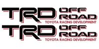 TOYOTA TRD OFF ROAD Decals Tacoma Sticker 1PAIR truck bedside Black/Red.