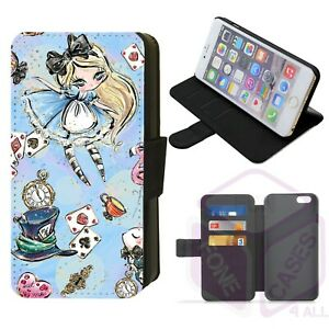 iPhone/Galaxy Wonderland Whimsical Design Faux Leather Printed Flip Phone Case H