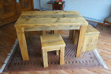 Massiver neuer Bauholz /Altholz Tisch