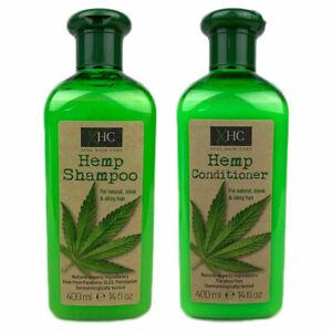 Hemp Shampoo & Conditioner Sleek Shiny Hair Paraben Free 400ml Each UK Seller