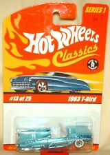 Hot Wheels Classics Series 1 1963 Ford Thunderbird light blue  excellent card