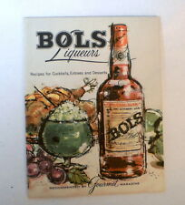 1960s Bols Liqueurs fold out Cordial recipe booklet