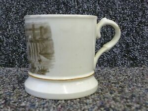 Antique Transfer Ware Mug Anglesey Britannia & Menai Bridge