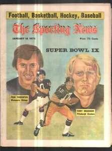The Sporting News Newspaper Jan 18, 1975 Super Bowl IX Tarkenton & Bradshaw