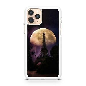 Eiffel Tower Elegant Fading Moon Tourist Attraction Scenery Phone Case Cover