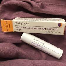 MARY KAY Sun Essentials Lip Protector Sunblock SPF 15 - .16 oz - NEW IN BOX