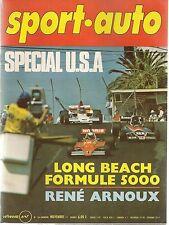 SPORT AUTO 166 1975 GP USA WATKINS GLEN + LONG BEACH AUTOBIANCHI A112 ABARTH
