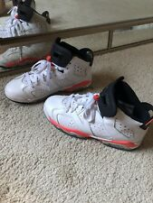 Air Jordan Retro 6 Infrared White Youth Boy Size 4.5/ Woman 6.5