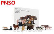 PNSO 10pcs most popular Asian animals Family Zoo limited model education museum