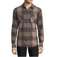 Men's Arizona Long Sleeve Flannel Shirt Size: S,L Color: Flgstn Gry Buffalo