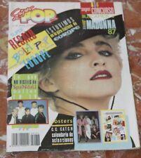 SUPER POP SPANISH MAGAZINE 1987 MADONNA+SPANDAU BALLET+EUROPE+DURAN DURAN+A-HA
