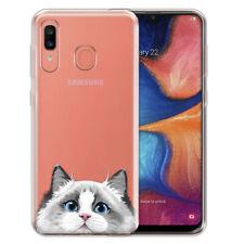 "For Samsung Galaxy A20 6.4"" 2019 Animal Clear Tpu Soft Gel Case Phone Cover Skin"