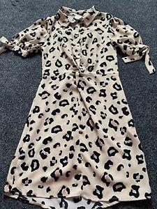 River Island Girls Leopard Print Dress Age 8