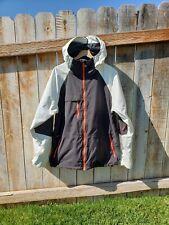 BURTON Men's (L) DRYRIDE Ski Snow Jacket Coat Black White Red EXCELLENT!