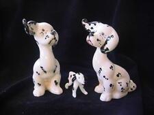 3 DALMATIAN Dogs 1002 PUPPIT Beswick England  1944-69 + Mini GLASS Dog Vintage