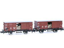 Fleischmann 881804 - Güterwagen Set Viehwagen Bauart G10 DB Ep.III 2x - Spur N