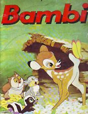 COMPLETE ALBUM WITH ALL STICKERS BAMBI PANINI BY DN - 1979