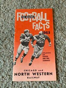1963 Chicago & North Western Railway Football Schedule Booklet NFL AFL NCAA