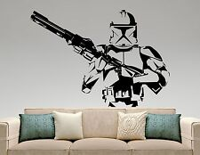 Star Wars Wall Decal Stormtrooper Vinyl Sticker Movie Hero Art Bedroom Decor 9ew