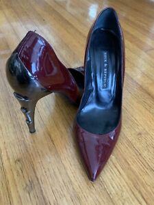 Rock & Republic Patent Leather Burgundy Heels Size 36