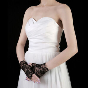 Costume Wedding Sexy Half Finger Fingerless Lace Gloves Bridal Party Costume