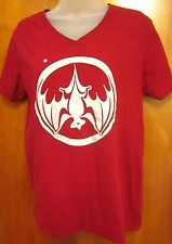 BACARDI SPICE RUM med T shirt upside-down Bat logo tee OG unisex V-neck booze
