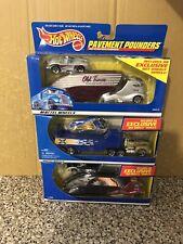 Hot Wheels Pavement Pounder Diecast Car Lot Of 3