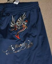 Men's New Ed Hardy Sport Pants by Christian Audigier Blue Size M