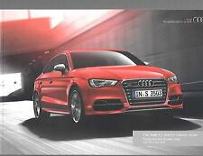 AUDI A3 AND S3 SALOON ILLUSTRATED PRICE & SPECIFICATION SALE BROCHURE APRIL 2014