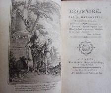 BELISAIRE Marmontel 4 jolies gravures en taille douce 1757