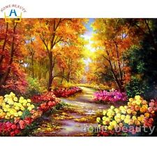 DIY Canvas oil Painting Paint By Numbers Colourful  Kit Include Colours+brush