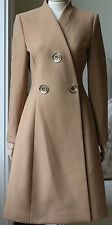 STELLA MCCARTNEY CAMEL FLARED WOOL COAT UK 6/8