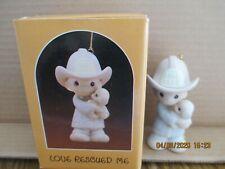 Precious Moments 1986 Ornament Love Rescued Me Fireman 102385