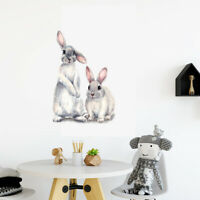Rabbit For Living Room Bedroom Bunny Home Decor Mural Art Decal Wall Sticker