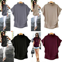 Plus Size Women Summer Batwing Short Sleeve T-Shirt Casual Loose Tops Blouse