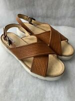 Ladies Gexo Woven Sandal D Amalitha Caramel Breathable Footbed UK Size 3 EU 36