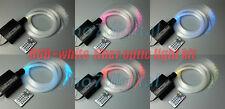 Upgrade RGBW fiber optic light kit optical fiber light spark stars ceiling new