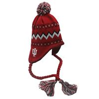 Indiana Hoosiers NCAA Adidas Infant Toddler OSFM Winter Hat Cap Tassels New Tags