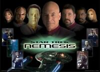 STAR TREK MOVIE POSTER ~ NEMESIS CAST COLL 27x40 Enterprise 10 X Patrick Stewart