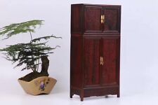 display red hard wood rosewood Chinese flower design Miniature Top cabinet