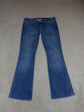 7 SEVEN FOR ALL MANKIND LOW RISE A POCKET FLARE STRETCH JEANS SIZE 28