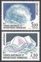 FSAT/TAAF 1989 Mineral/Crystals/Geology/Mesotype/Analcime/Gems 2v set (n23170)