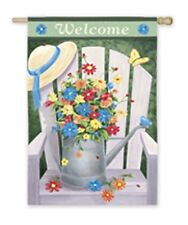 "Garden Water Can Welcome House Size (29"" x 43"" Approx) Flag Eg 13719"