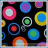 BonEful Fabric FQ Cotton Quilt Black Pink Purple Red B&W Rainbow Polka Dot Clown